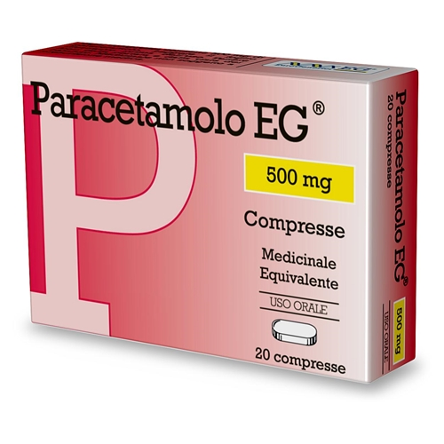 Paracetamolo Eg 500 Mg Compresse 20 Compresse In Blister Pvc/Al
