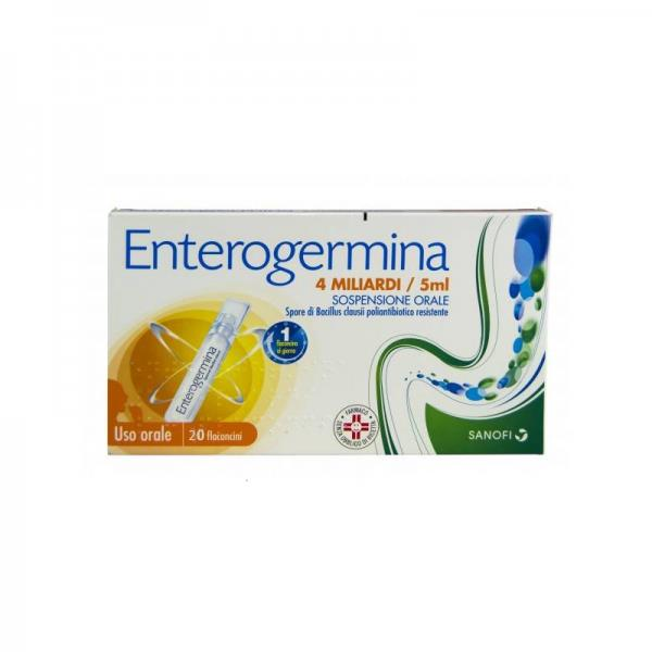 Enterogermina 4 Miliardi/5Ml Sospensiore Orale 20 Flaconcini