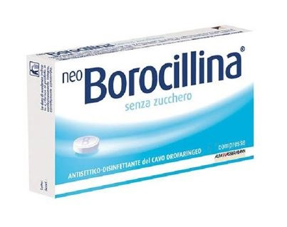 Neoborocillina 1 2 Mg 20 Mg Pastiglie Senza Zucchero 16 Pastiglie In Blister Pvc Pe Pvdc Al