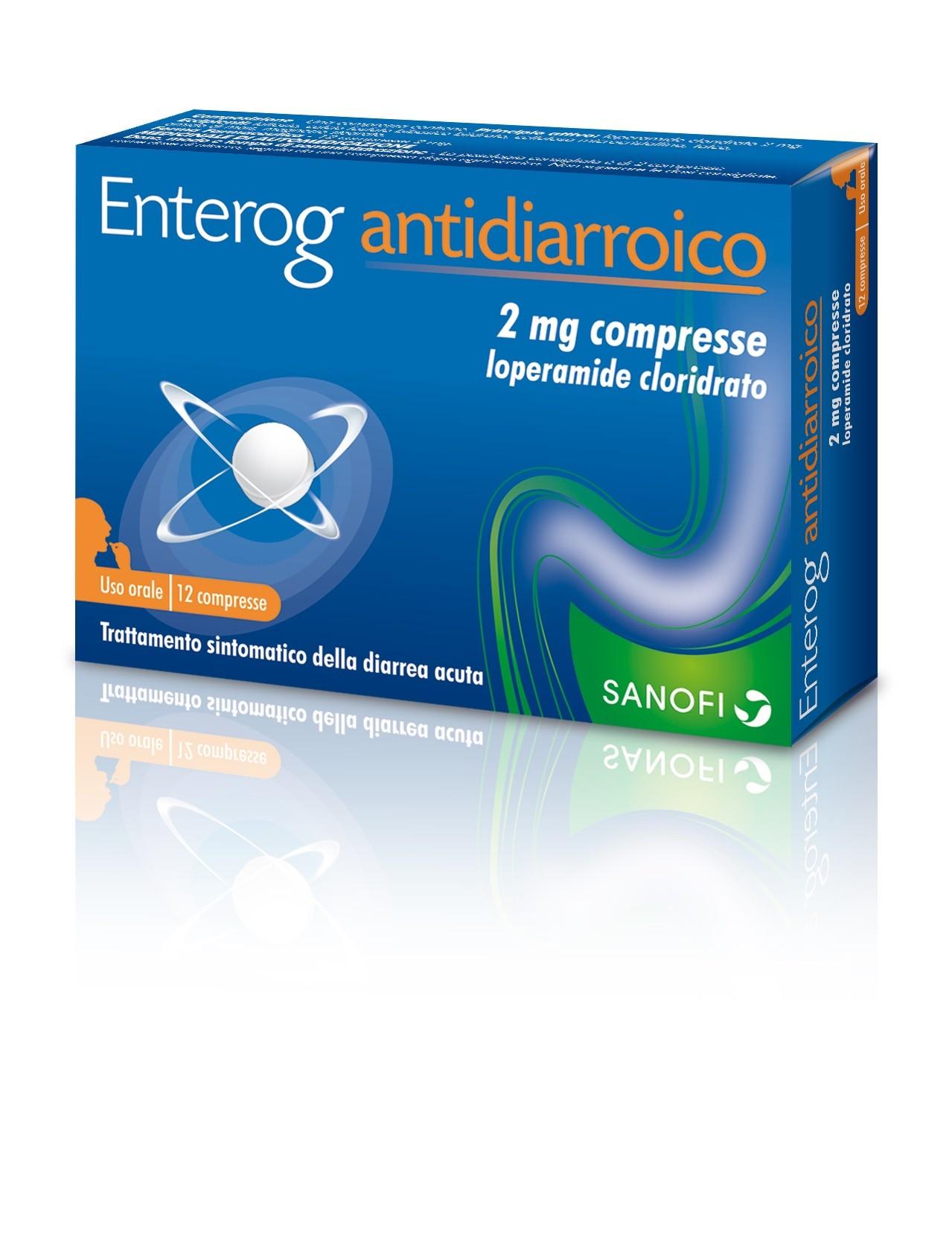 Enterog Antidiarroico 2 Mg Compresse 12 Compresse
