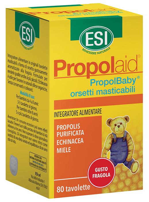 Esi Propolaid Propolbaby Orsetti 80 Compresse Masticabili