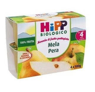 Hipp Italia Hipp Bio Hipp Bio Frutta Grattuggiata Mela Pera 4x100 G