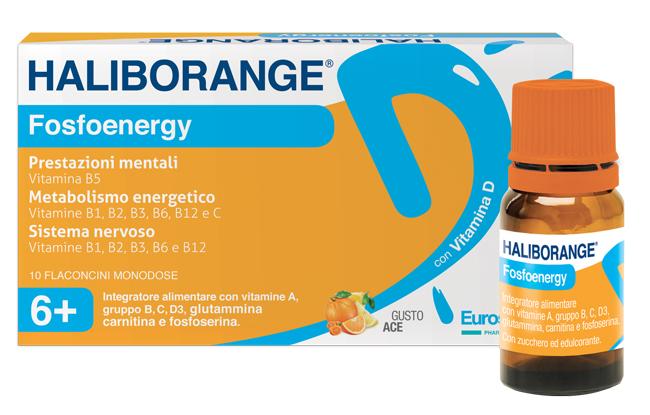 Haliborange Fosfoenergy 10 Flaconcini 10 Ml