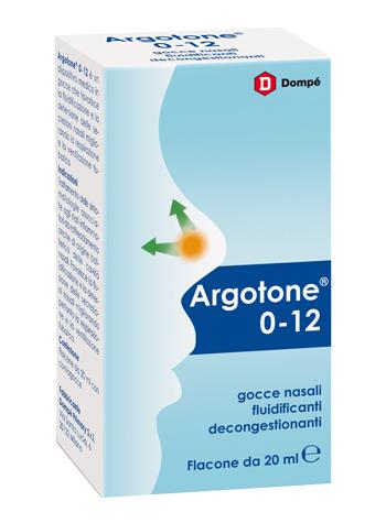Dompe' Farmaceutici Argotone 0-12 Soluzione Per Lavaggio Nasale 20 Ml