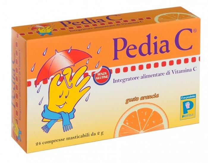 Pediatrica Pedia C Arancia integratore di vitamina C 24 Compresse Masticabili