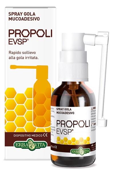 Erba Vita Group Propoli Evsp Spray Gola Mucoadesivo Senza Alcol 20ml