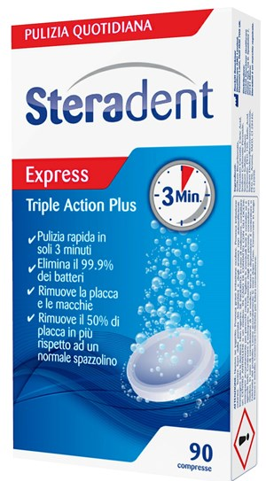 Steradent Triple Action Plus 90 Compresse Pulenti