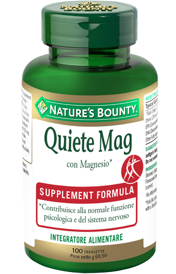 Nature's Bounty Quiete Mag 100 Tavolette con Magnesio