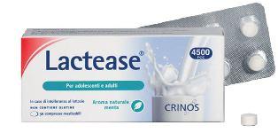 Crinos Lactease 4500 Fcc Aroma Menta 30 Compresse Masticabili