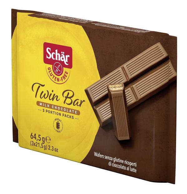 Dr.schar Schar Twin Wafer Cioccolato Al Latte 3 Barrette X 21,5 G