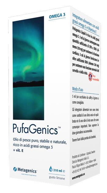Metagenics Pufagenics Liquido Gusto Limone 210 Ml