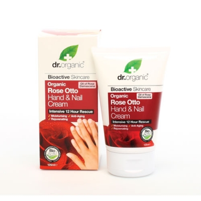Optima Naturals Dr Organic Rose Otto Rosa Hand Nail Cream Crema Mani 125 Ml
