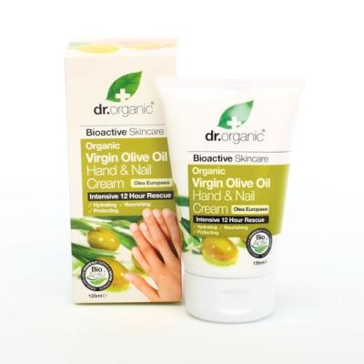 Dr Organic Virgin Olive Oil Olio Di Oliva Hand Nail Cream Crema Mani 125 Ml