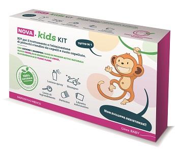Nova Argentia Nova Kids Kit Lozione Sp + Shampoo + Pettine Per Eliminare Pidocch