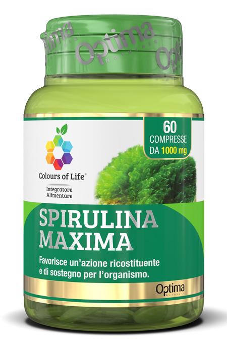 Optima Naturals Colours Of Life Spirulina Maxima 60 Compresse 1000 Mg