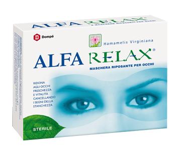 Dompe Farmaceutici Alfarelax Maschera Riposante Occhi 6 Bustine X 7 Ml