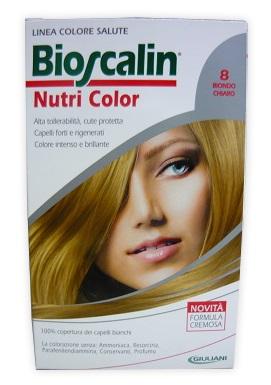 Bioscalin Linea Tinta Capelli Nutri Color 8 Biondo Chiaro Sincrobiogenina 124 Ml