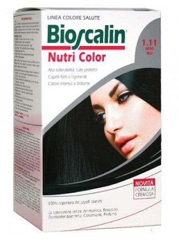 Bioscalin Linea Tinta Capelli Nutri Color 1.11 Nero Blu Sincrobiogenina 124 Ml