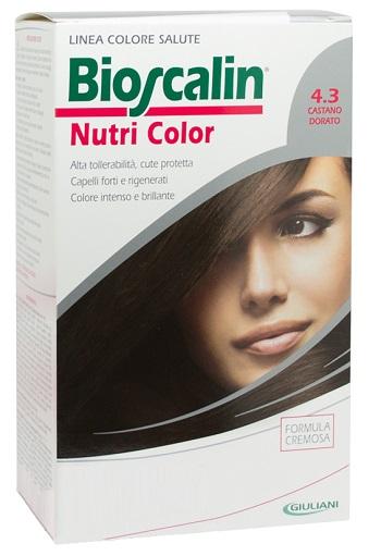 Bioscalin Linea Tinta Nutri Color 4.3 Castano Dorato Sincrobiogenina 124 Ml