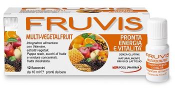 Fruvis Multi-vegetalfruit Pronta Energia E Vitalita' 12 Flaconcini Da 10 Ml