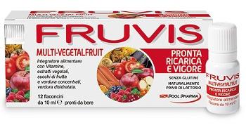 Fruvis Multi vegetalfruit Pronta Ricarica E Vigore 12 Flaconcini Da 10 Ml