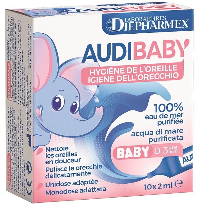 Pasquali Audibaby 10 Acqua Di Mare Purificata 10 Flaconcini Monodose 2 Ml