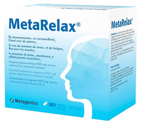 Metagenics Metarelax per tensione sforzo mentale stress 180 Compresse