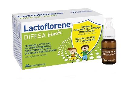 Lactoflorene Fermenti Lattici e Vitamine Difesa Bambini 10 Flaconi 100 Ml