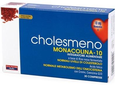 Vital Factors Italia Cholesmeno Monacolina 10 30 Compresse 30 G