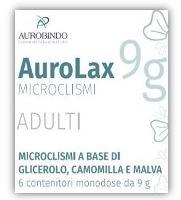 Aurobindo Pharma Italia Microclismi Per Adulti Aurolax 6 Contenitori 9 G