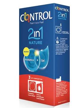 Artsana Control 2 In 1 Nature Lube Nature 3 Pezzi