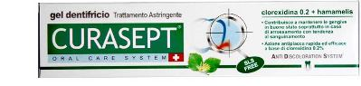 Curasept Dentifricio Gel 0,20% Con Ads Astringente 75 Ml