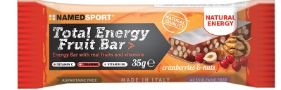 Named Total Energy Fruit Bar Cranberry e Nuts 35 G