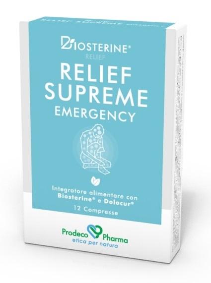 Prodeco Pharma Biosterine Relief Supreme Emergency 12 Compresse