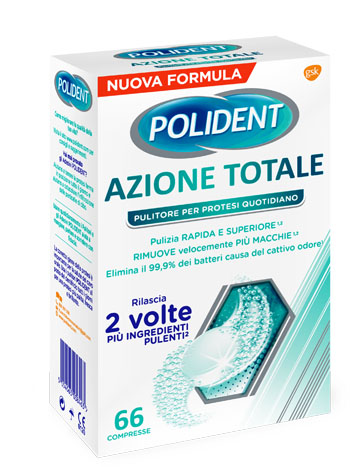 Glaxosmithkline C.health. Polident Azione Totale 66 Compresse