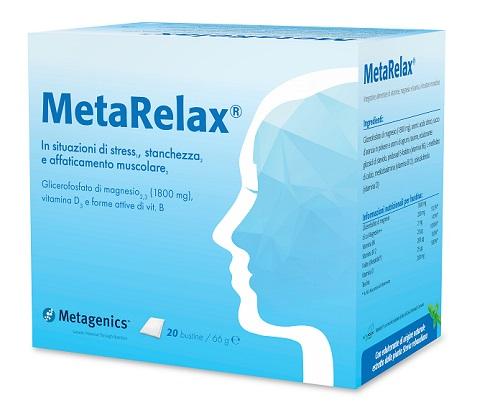 Metagenics Belgium Bvba Metarelax New 20 Bustine