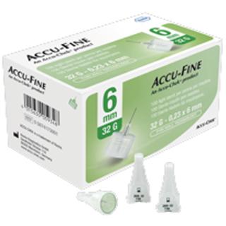 Ago Per Penna Da Insulina Accu-fine Gauge 32 6 Mm 100 Pezzi