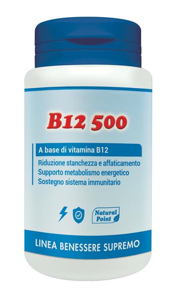 Natural Point B12 500 Cianocobalamina 100 Capsule Vegetali
