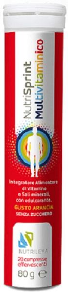Nutrisprint Multivitaminico 20 Compresse Effervescenti 80 G Senza Zucchero