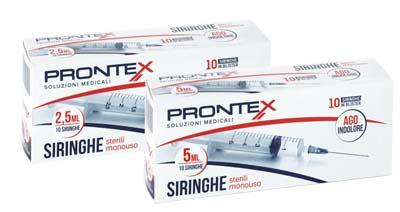 Safety Siringa Prontex 2,5 Ml Ago Ind 10 Pezzi