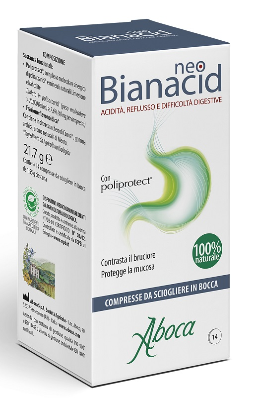 Aboca Neobianacid 14 Compresse Masticabili