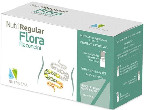 Nutrileya Nutriregular Flora 10 Flaconcini 10 Ml
