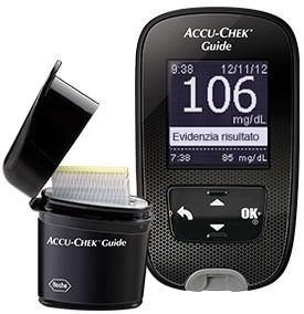 Accu chek Guide Kit Mg dl Glucometro Accu chek Guide Pungidito Fastclix