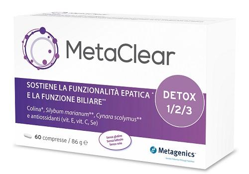 Metagenics integratore per la depurazione del fegato Metaclear 60 Compresse