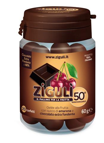 Ziguli Gelee Gusto Amarena E Cioccolato Fondente 60 20 Confetti 60 G
