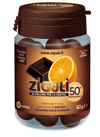 Ziguli Gelee Gusto Arancia E Cioccolato Fondente 60 20 Confetti 60 G