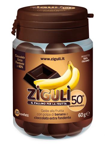 Ziguli Gelee Gusto Banana E Cioccolato Fondente 60 20 Confetti 60 G