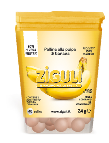 Falqui Prodotti Farmac. Ziguli Banana 40 Palline 24 G