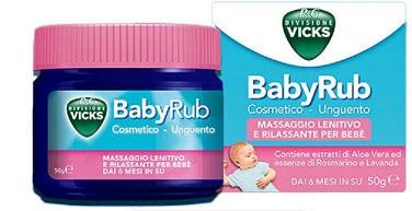 Vicks Babyrub 50 G Unguento per massaggio Rilassante per bambini da 6 mesi