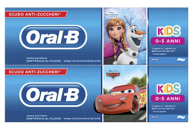 Procter & Gamble Oralb Dentifricio Kids Frozen&cars 0-5 Anni 75 Ml